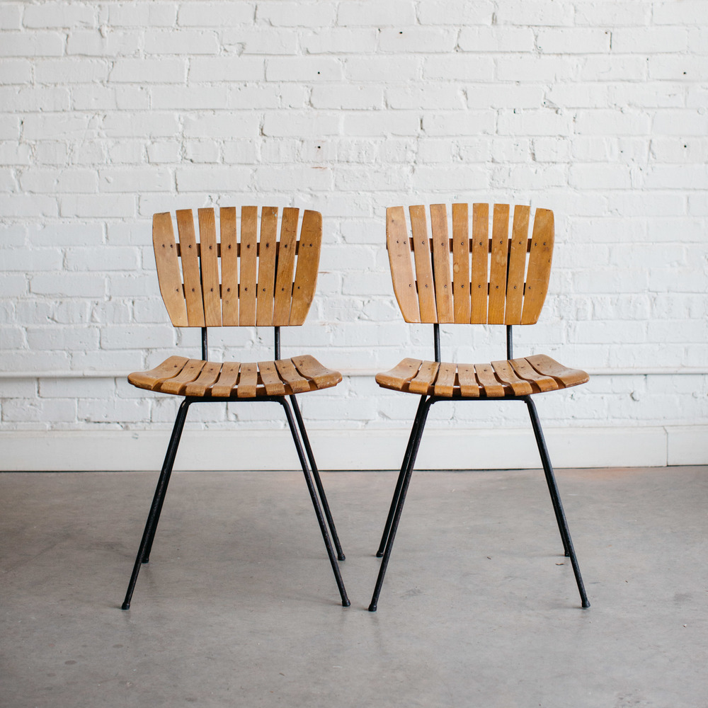 Superieur Mid Century Wood Slat Chairs