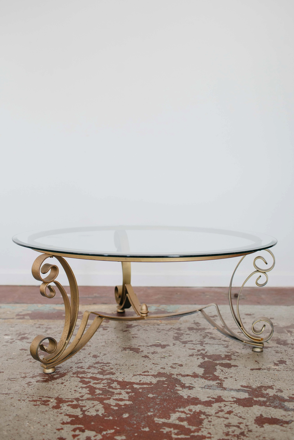 Gold Frame Glass Top Coffee Table A Darling Day