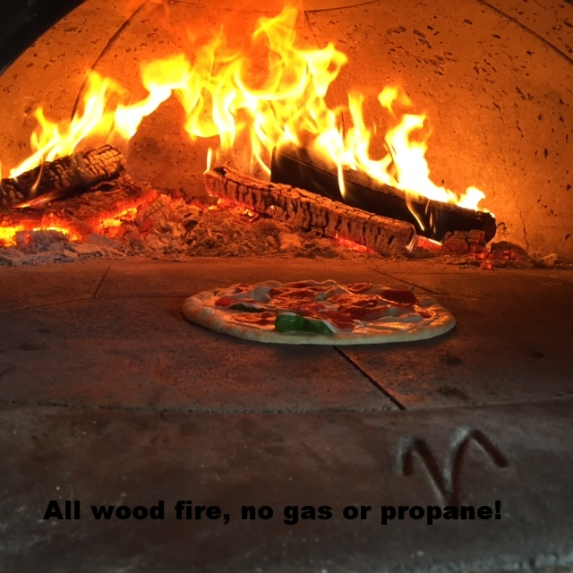 All wood fired, no propane!