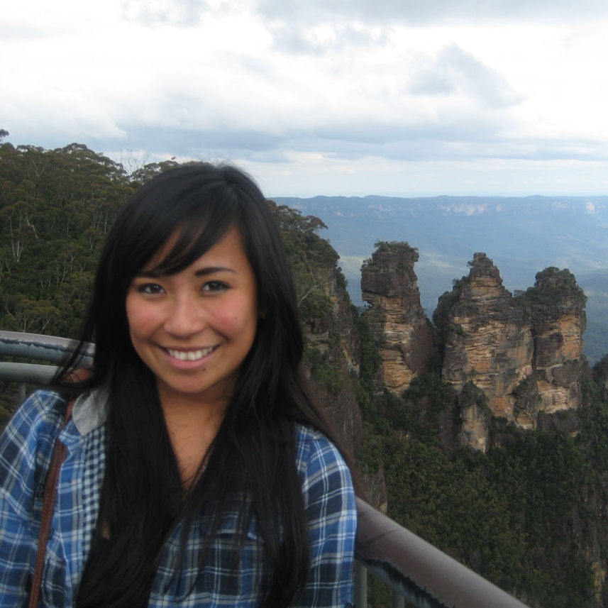 Nikki at the Three Sisters in the Blue Mountains of New South Wales, Australia.