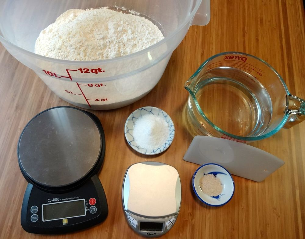 1. ingredients and equipment the small scale is not necessary because the yeast amount can vary