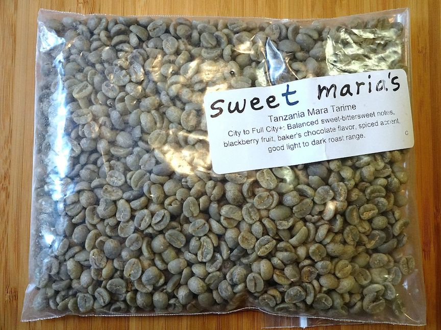 High quality beans from Sweet Maria's