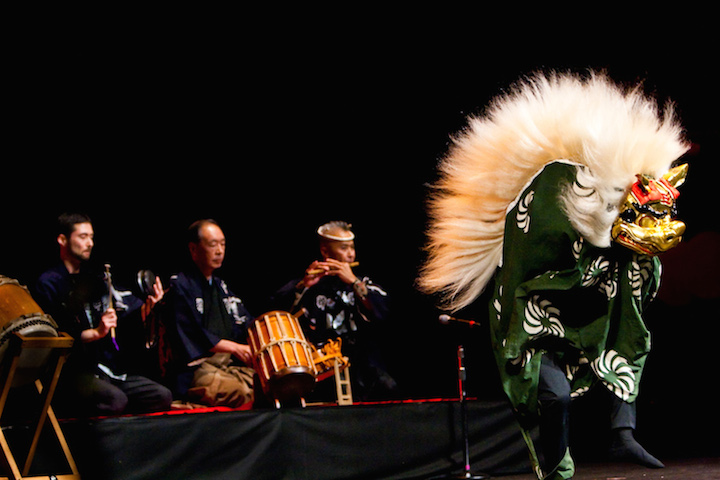 Eien Hunter-Ishikawa website shishimai lion dance at north american taiko conference kyosuke suzuki saburo mochizuki kenny endo