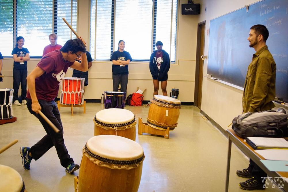 eien's workshop at intercollegiate taiko invitational