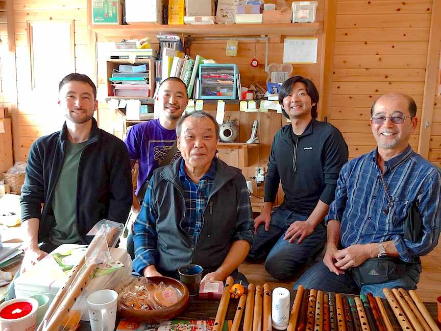2013 visit to Ranjo workshop, with Shoji, Maz, Yasuo