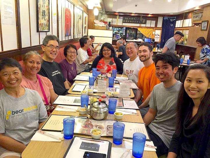 Post-workshop dinner with Nakama folks