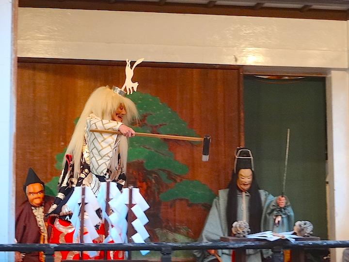Wakayama Shachu performing Edo Sato Kagura