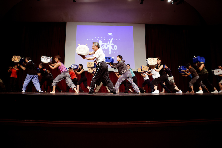 Shishimai demonstration after the 2011 Summer Taiko Institute