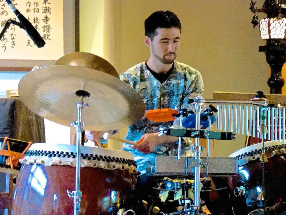 Eien on taiko-drumset hybrid setup