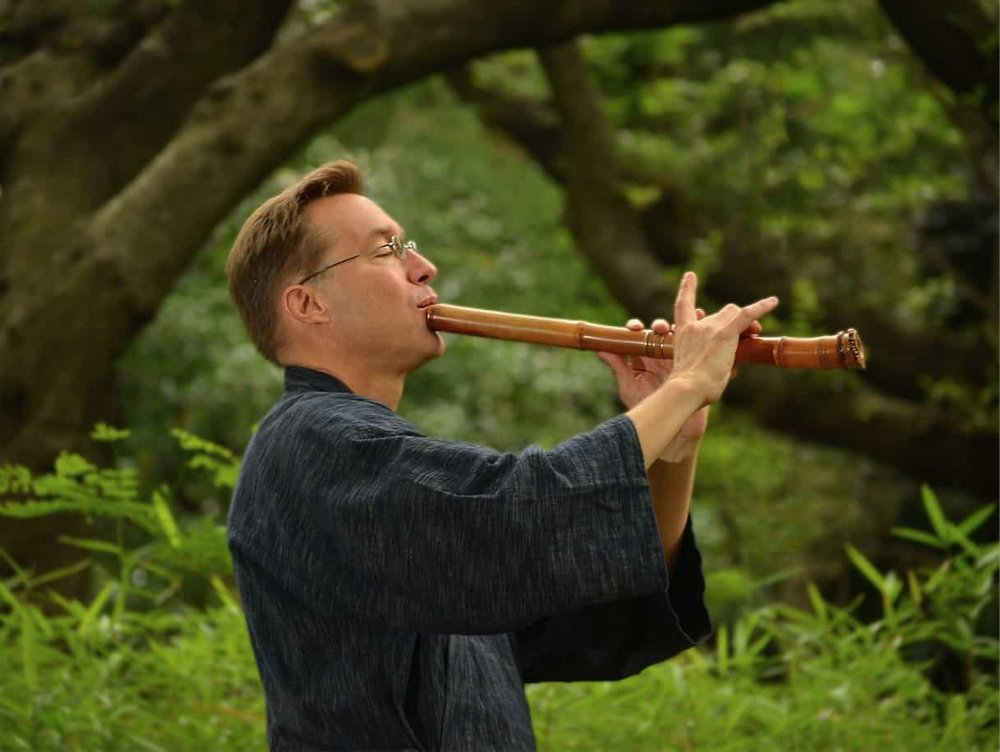 Bruce Huebner on shakuhachi