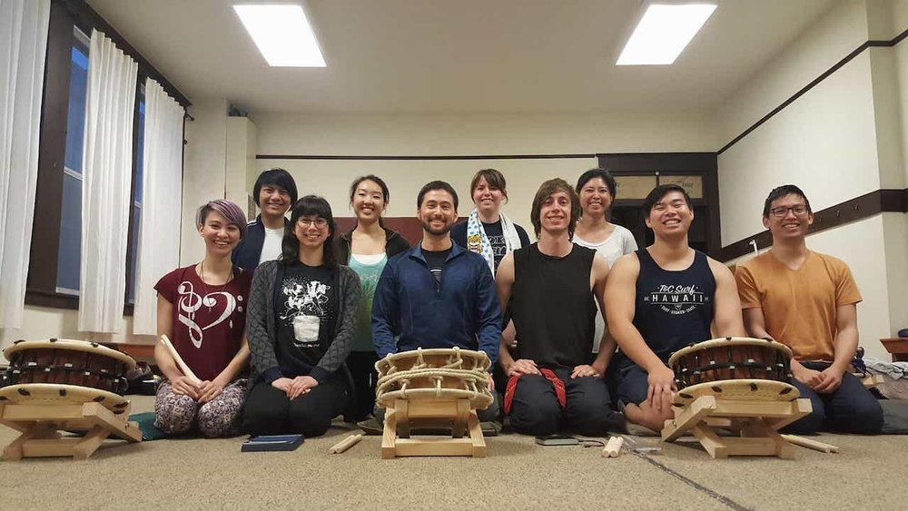 Edo Bayashi workshop in Seattle with Dekoboko Taiko