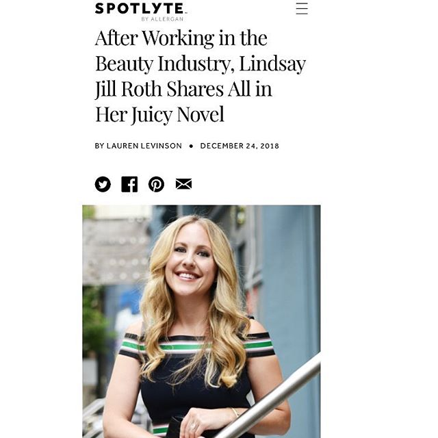 Thank you @spotlyte & @laurenlevinson for this article! https://www.thespotlyte.com/news/lindsay-jill-roth-beauty-interview #beauty #makeup #prettyis #read #author @simonandschuster @gallerybooks @pocket_books @baborusa @baborofficial @vintnersdaughter @clarinsusa @clarinsofficial @goldfadenmd @glamsquad @oribe @jillstuartbeautyus @lauramercier @dove @ctilburymakeup @christopherkane