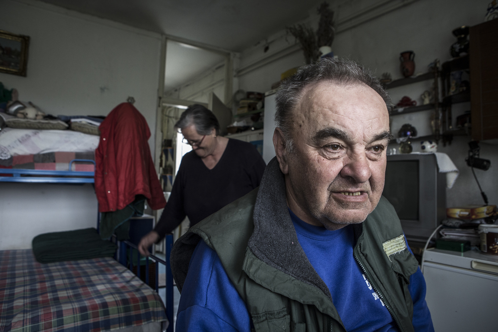 Milan and Dusanka from Croatia are refugees of the Bosnian war. They have lived at the Krnjaca Centre since 1995.