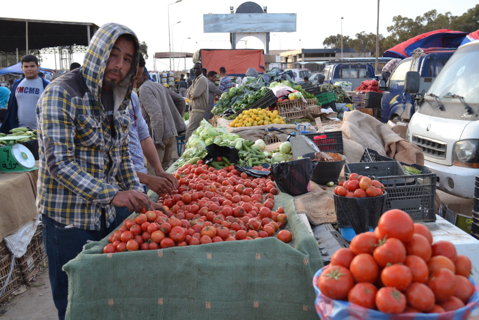 The vegetable market remains open, despite slow business