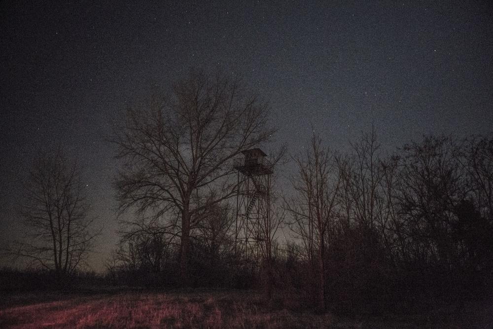 برج مراقبة حدودي مهجور على الحدود الصربية المجرية