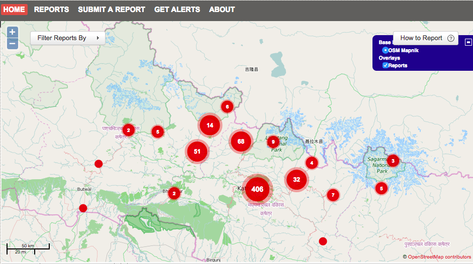 Nepal earthquake updates irin click this link for an interactive map they have created after verifying and adding reports of earthquake damage from across the country gumiabroncs Choice Image