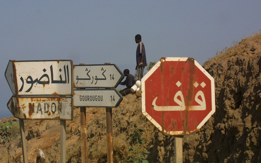 Mount Gourougou, overlooking Spanish Melilla, was cleared of migrants by the police in February
