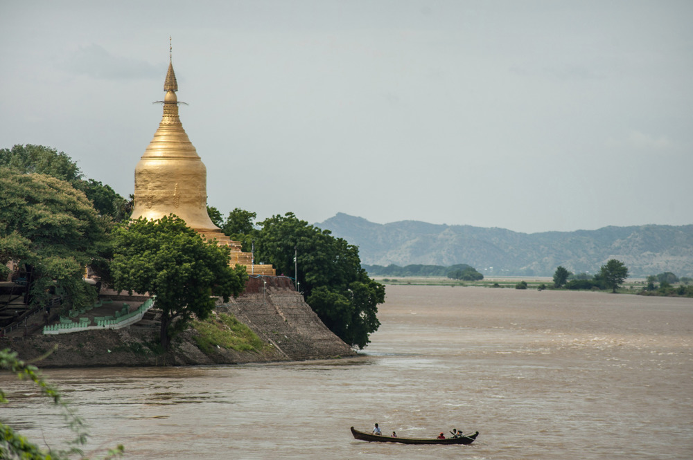 With rain still falling in the headwaters of the Irrawaddy, the government has warned that water levels have exceeded danger points in some areas