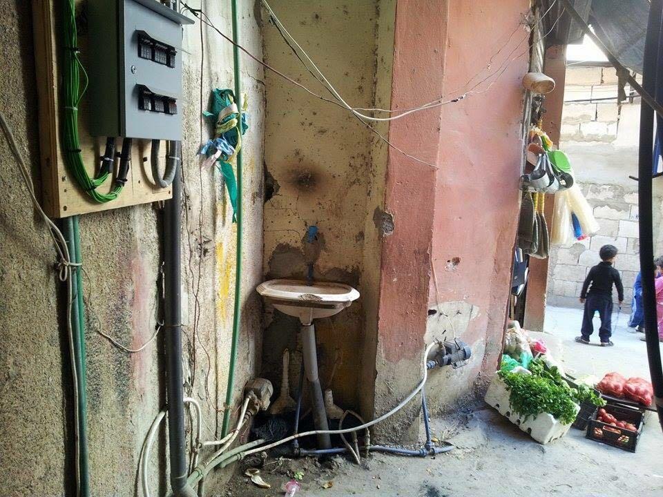 سوء حالة النظافة الصحية في المخيم