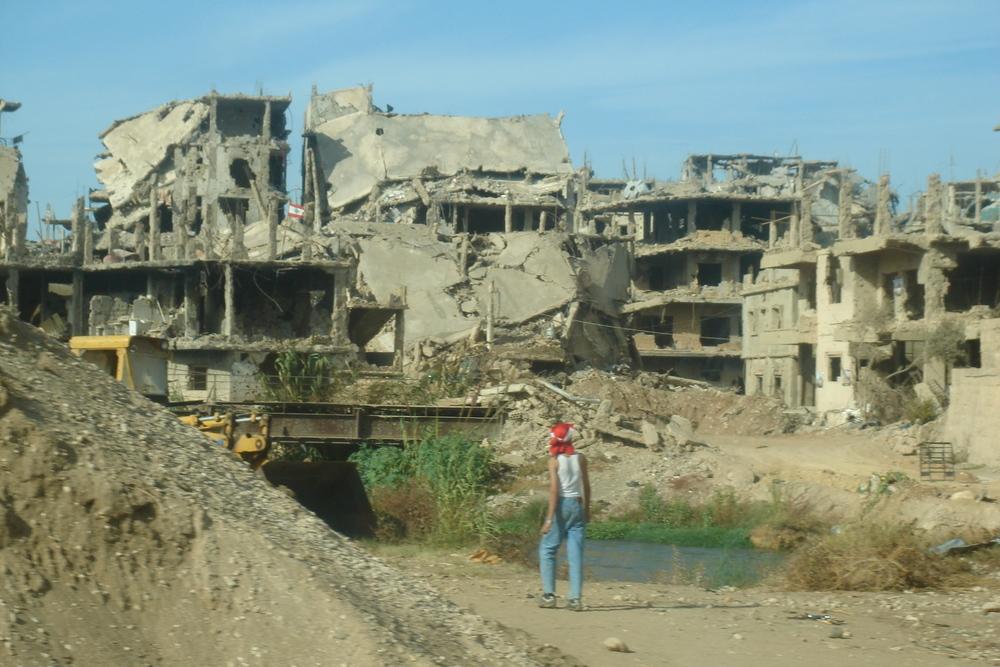 تم تدمير المخيم بأكمله أثناء القتال في عام 2007 (وزارة الخارجية/فليكر)