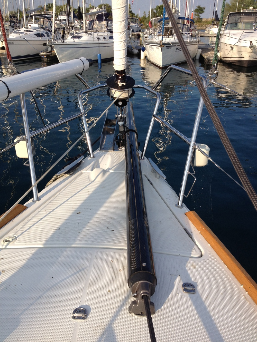 Custom Tapered Bowsprit: Beneteau First40