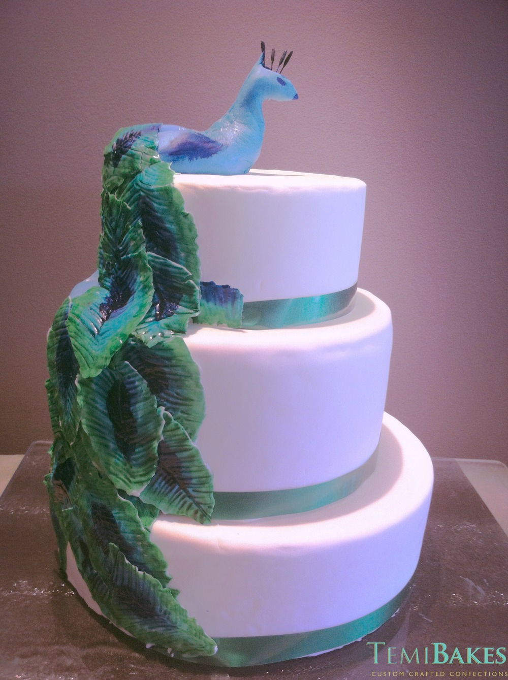 peacock mehndi cake