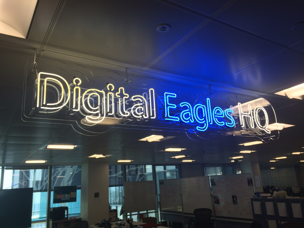 neon sign digital eagles