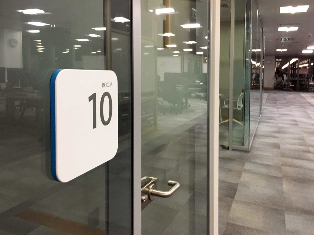 barclays wayfinding office sign