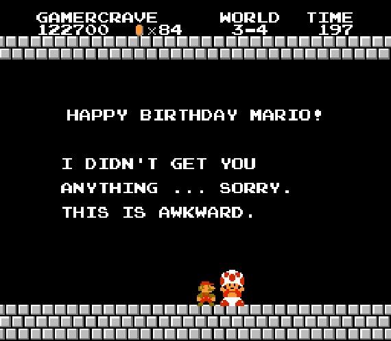 crytzejam :     Feliz cumpleaños Super Mario Bros!