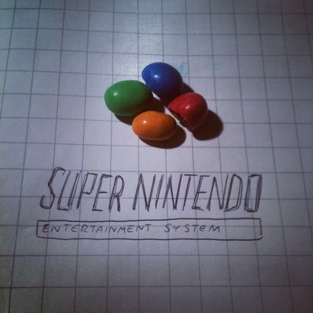 #snes #supernintendo #m&m's (Taken with  instagram )