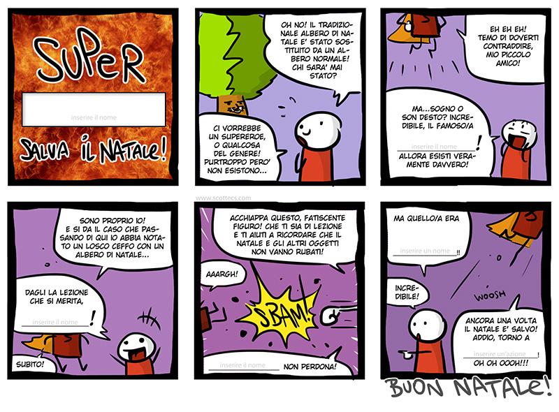 Scottecs Comics - Il Biglietto del Supereroe Personalizzabile di Natale! http://bit.ly/uZOE8r