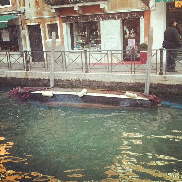 The sad #boat in #venice (Taken with  instagram )