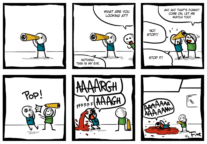 New English Comic! Keep an Eye on Me from  http://bit.ly/GTzGzL