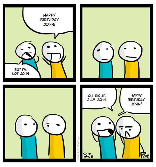 New English Comic! Happy Birthday! from  http://bit.ly/KuyAfU