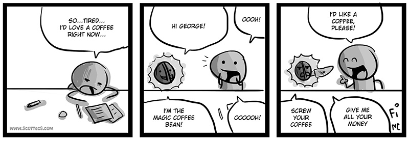 New English Comic! Beano, the Magic Coffee Bean from  http://bit.ly/JFgVCg