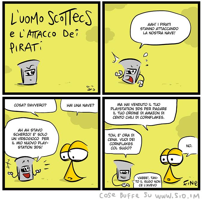 L'Uomo Scottecs e l'attacco dei pirati, dal mio blog di Shockdom http://bit.ly/1dlr2IG