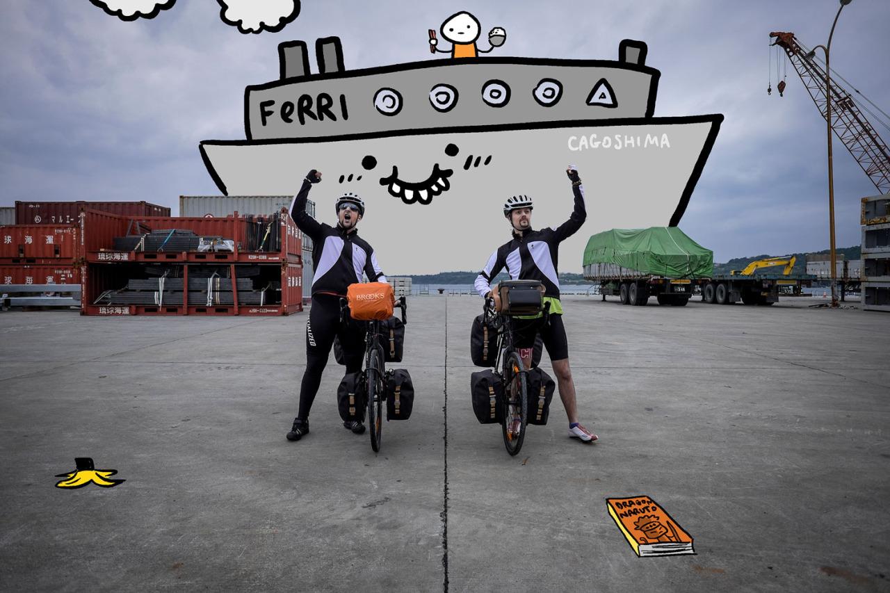 Sto facendo il giro del Giappone in bici, ma ogni tanto prendiamo un Ferry.