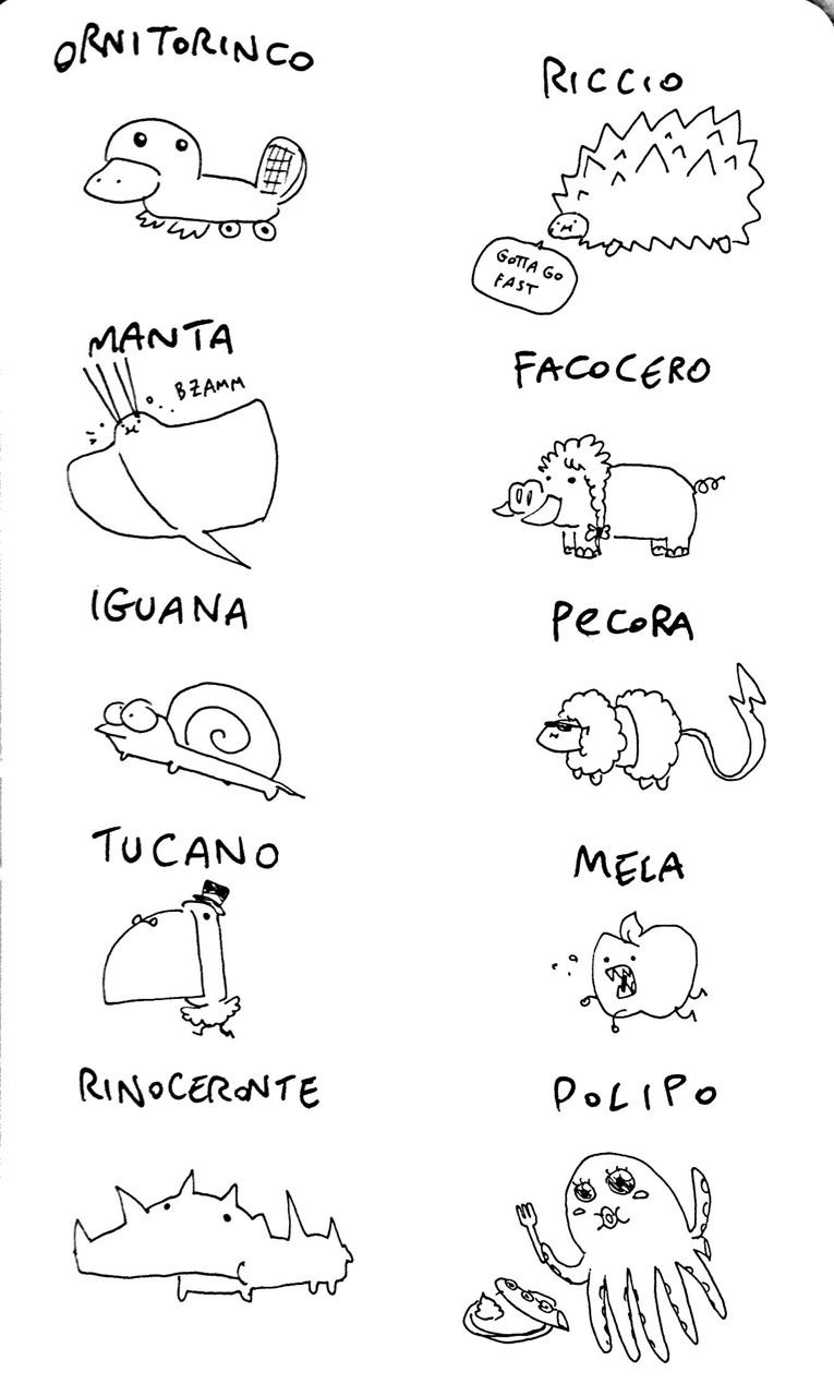 Avevo voglia di disegnare degli animali.