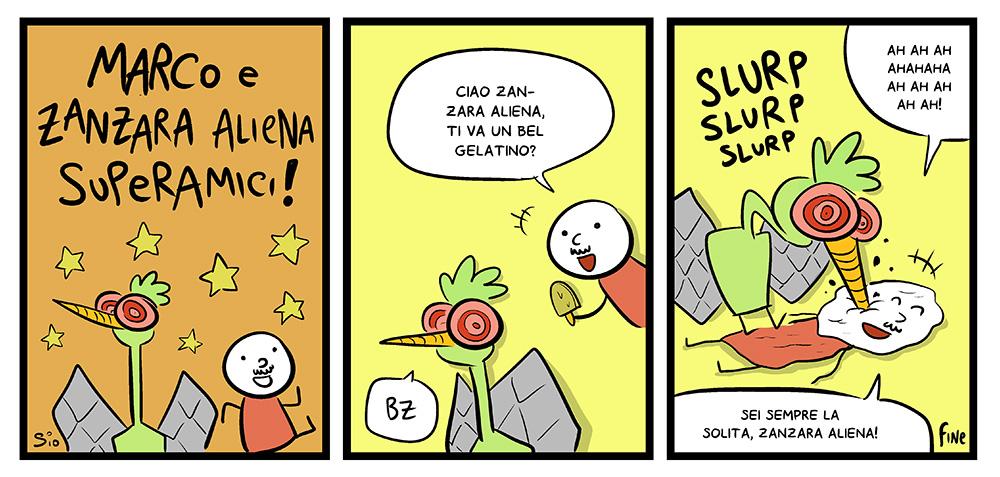 Marco e Zanzara Aliena superamici, dal mio blog di Shockdom  http://ift.tt/1tuSH1o