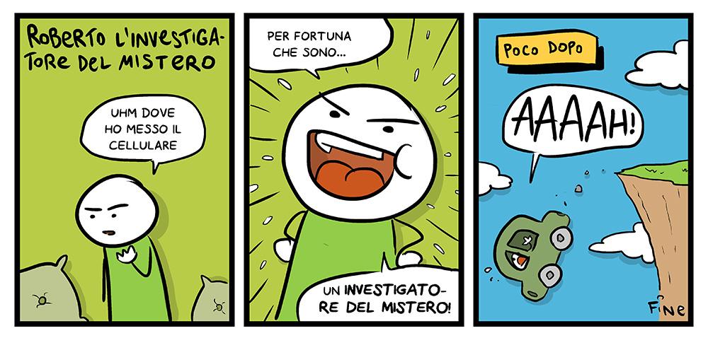 Roberto l'investigatore del mistero, dal mio blog di Shockdom  http://ift.tt/1wDKvwa