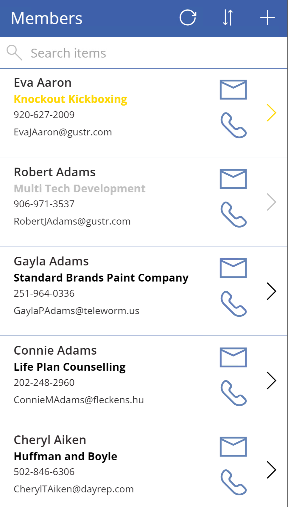 And access the contacts on your mobile device - everything stays in sync.