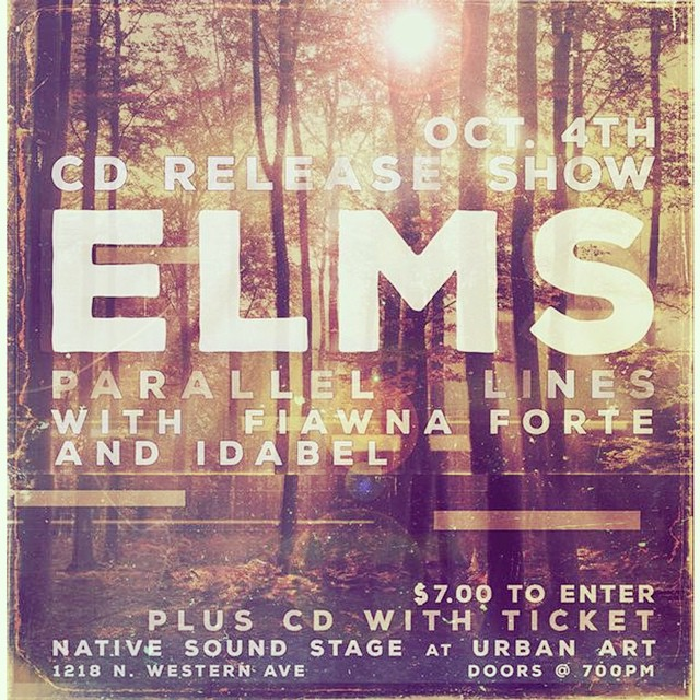 Mark your calendars for Oct. 4th! Can't wait to share this special night with our good friends @fiawnaforte and Idabel! ALL AGES :) but there will be some adult syrup. #elmsmusic #parallellinesep Poster by @phillip__danner