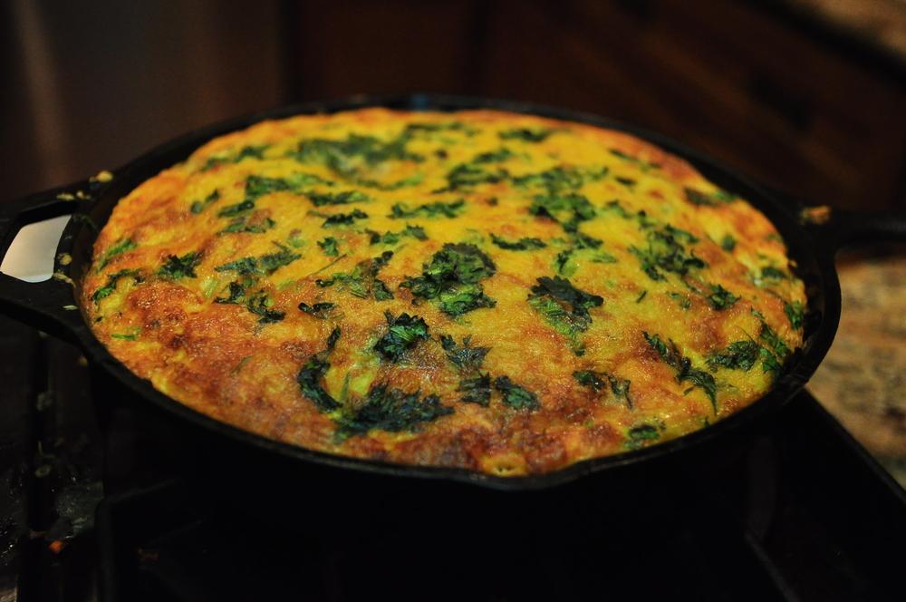 Veggie Frittata, many thanks to Michael Pollan