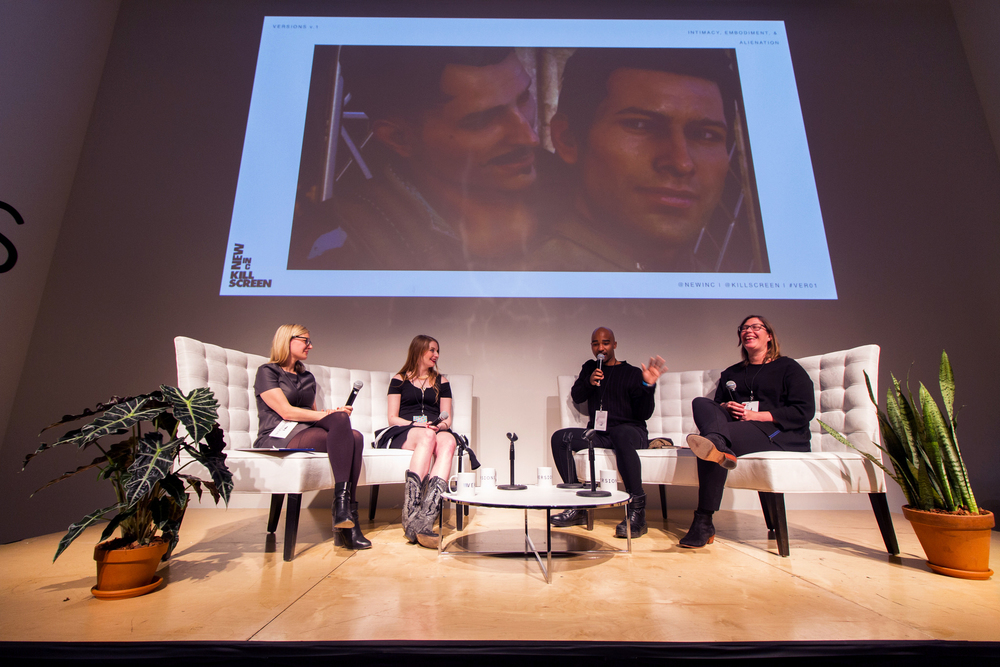 Panel discussion for Versions VR conference held at the New Museum in March 2016 in partnership with Kill Screen