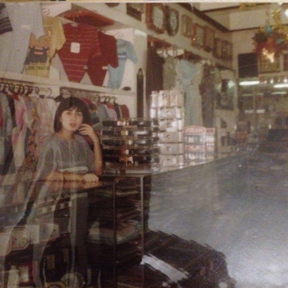 mom at the bazaar.JPG