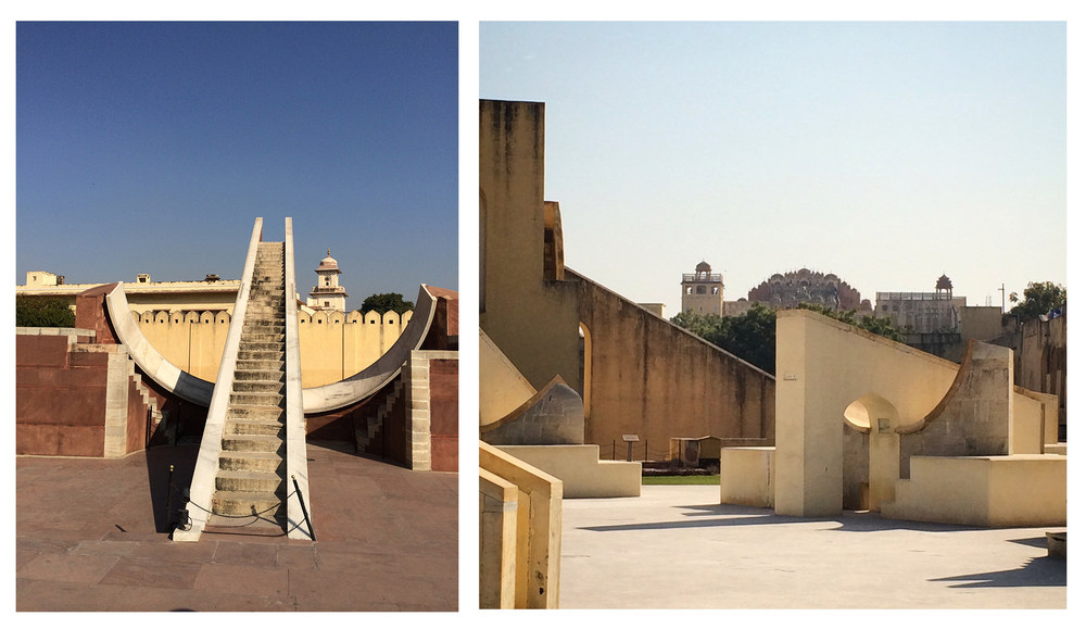 Jantar mantar - magical and formula. The literal translation of the observatory. One of the coolest places I've ever traveled to. It doesn't hurt that these small moon dials (on your right) place Leo as one out of two power signs. The rest are normal. Well according to our guide  .