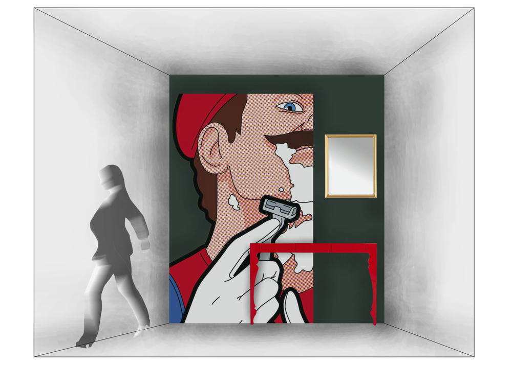 Art piece by Gregoire Guillemin from 'The Secret Life Of Heroes' series.