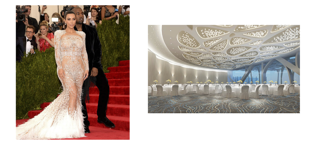 Kim Kardashian and Shanghai Tower Dining Room, Shanghai