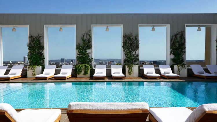 SkyBar at the Mondrian Hotel; Los Angeles CA