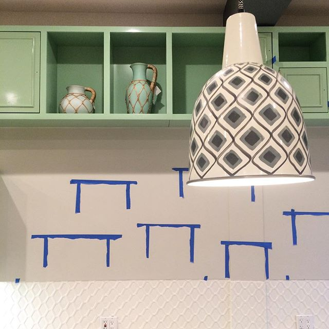 When you are almost ready for opening but still have shelves to put up. #installfriday #workinprogress #comingsoon #kafeneio #cafe #interior #design #a2_interiors_studio #a2_designers #mint #bluetape #queens #nyc